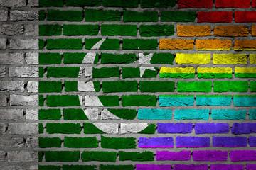 Dark brick wall - LGBT rights - Pakistan