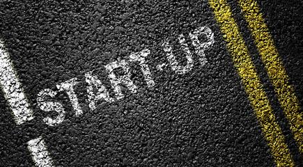 start-up on the asphalt road
