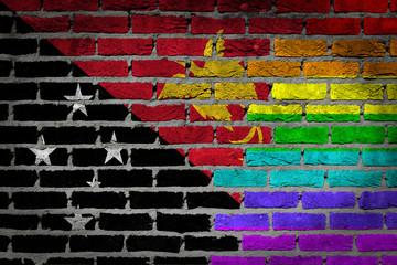 Dark brick wall - LGBT rights - Papua New Guinea