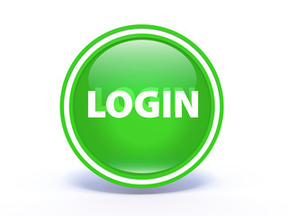 login circular icon on white background