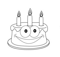 рисунок торт