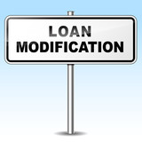 Loan modification sign poster