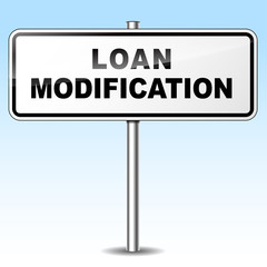 Loan modification sign