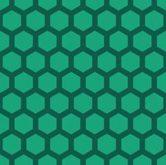 A green seamless hexagonal vector pattern
