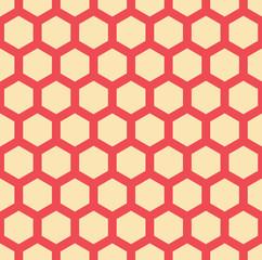 A seamless hexagonal vector pattern