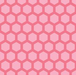 A pink seamless hexagonal vector pattern