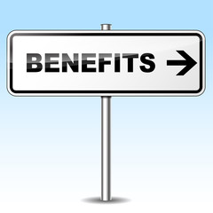 Benefits direction sign