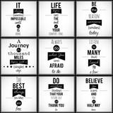 Fototapety Inspirational VECTOR quotations.