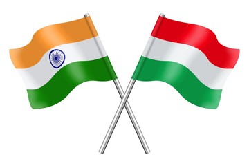 Flags: India and Hungary