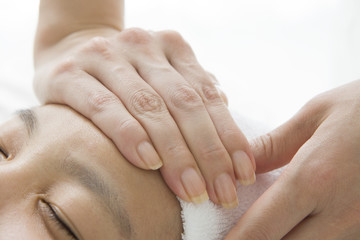Massage to the beautiful skin
