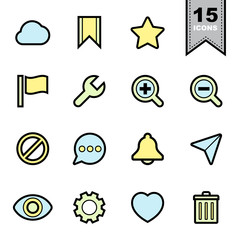 Interface icons set
