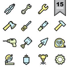 Tools icons set