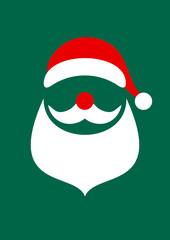 Postcard Abstract Christmas Card Santa Dark Green