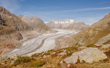 Riederalp, Bergdorf, Gletscher, Aletsch, Alpen, Wallis, Schweiz