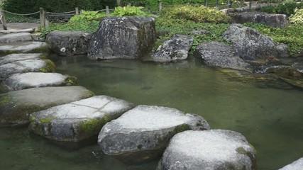 Steinweg über den Teich