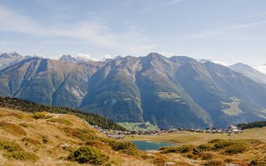 Bettmeralp, Bergdorf, Bettmersee, Walliser Alpen, Schweiz