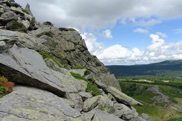 Ardèche, roches du Mont Gerbier de Jonc