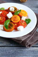 delicious salad with tomatoes