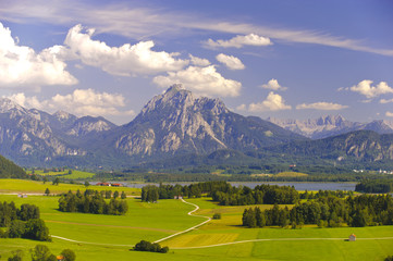 Bayern Alpen Berge Landschaft Panorama
