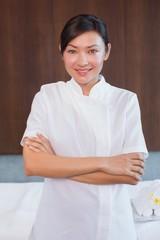 Portrait of a confident female masseur