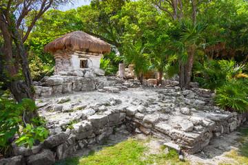 Mayan ruins of Xaman Ha in Playa del Carmen, Mexico