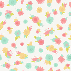 Flower seamless background