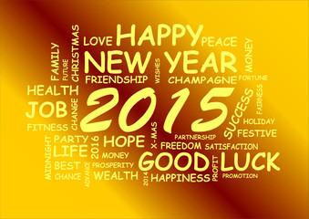 Wortwolke Neujahr 2015