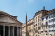 The  Pantheon in  Piazza della Rotonda, Rome, Italy.