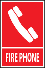Fire phone emergency  sign