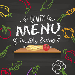 menu restaurant salade légumes ardoise