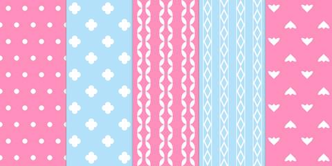 Set of gentle seamless patterns