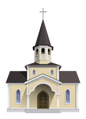 Vector illustration. Small chapel