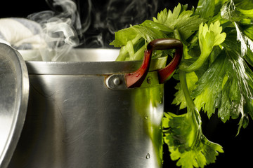 Vegetables saucepan