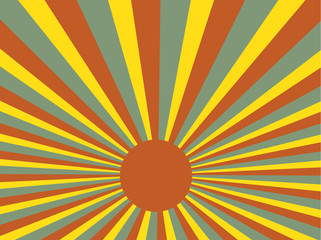 Sunrays retro vector