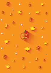 Halloween orange background in long shadow