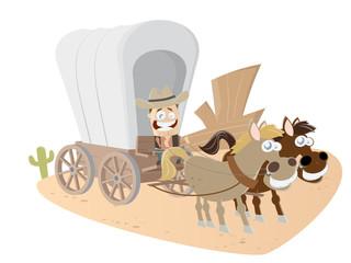 kutsche western wagen pferd