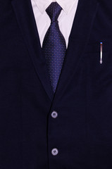 Businessman suit with a pen in the pocket