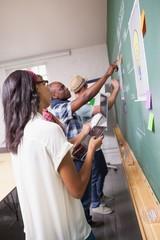 Creative design team during brainstorming
