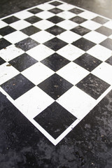 Checkers game table