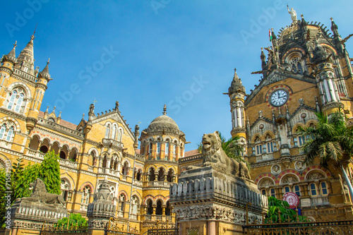 Canvas Treinstation Chatrapati Shivaji Terminus earlier known as Victoria Terminus i