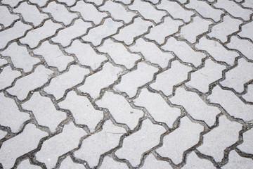 Gray tiled floor