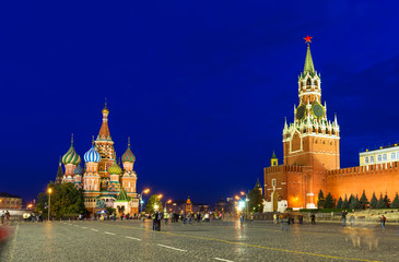 Kremlin, Red Square and Saint Basil's Cathedral in Moscow