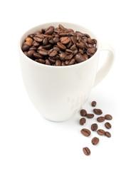 Coffee Cup fresh Beans