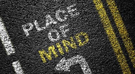 place of mind on the asphalt road