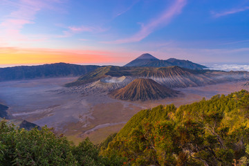 Top view of Bromo mountain