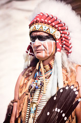 Portrait of american indian chief