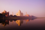 Beautiful Scenery Of Taj Mahal And A Body Of Water - 71584569