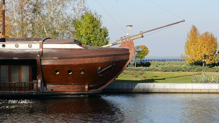 Galleon ship-restaurant in Mezhigirya of ex-president Yanukovich