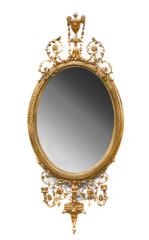 specchiera antica ovale