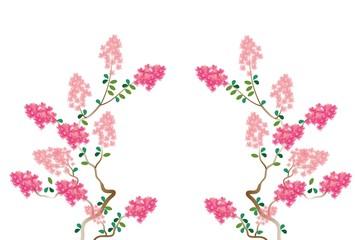ピンクのサルスベリの木